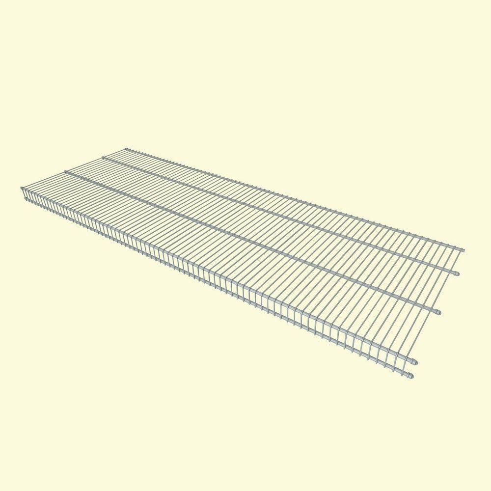 ClosetMaid Close Mesh 72 in. x 16 in. Ventilated Wire Shelf ...