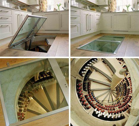 cool idea: spiral wine cellars | wine cellars, spiral wine cellar