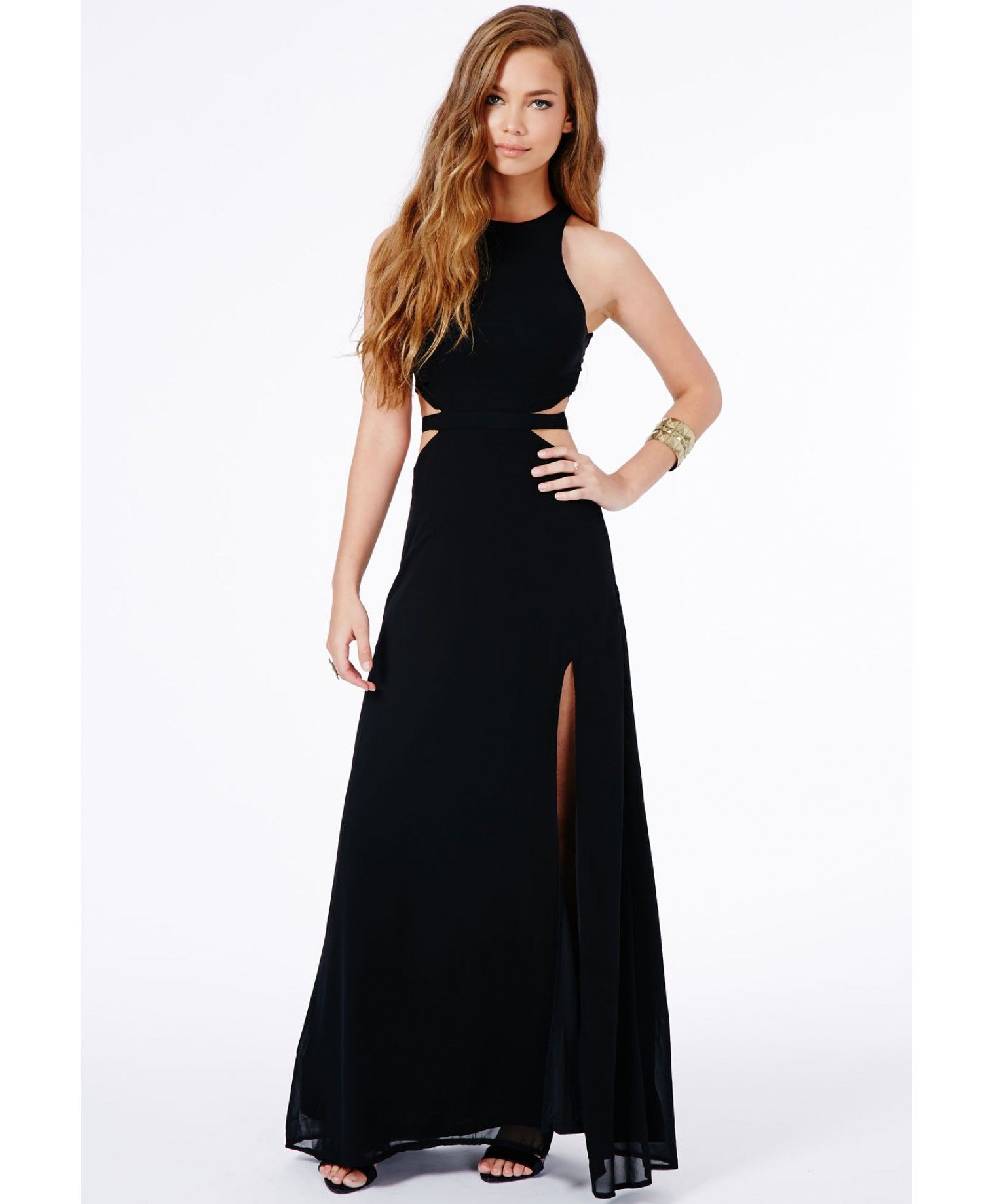 db36af5aa362 Anthea Cut Out Split Maxi Dress - Dresses - Maxi Dresses - Missguided