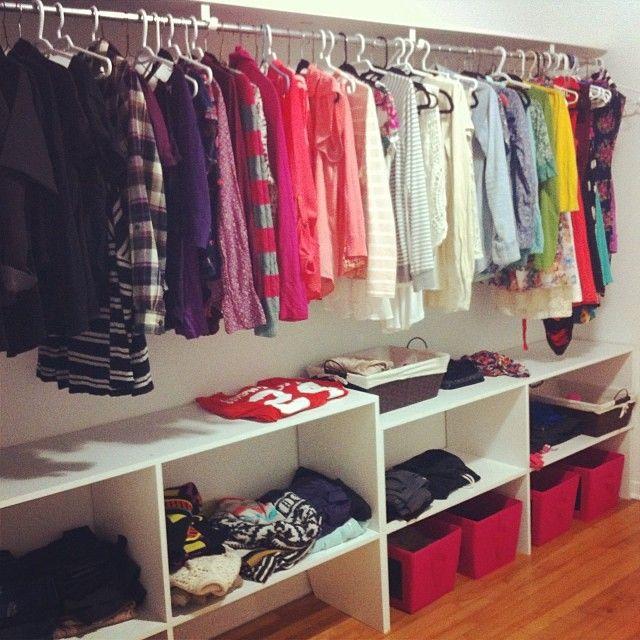 Homemade Closet Wardrobe ~ Best homemade closet ideas on pinterest spare room