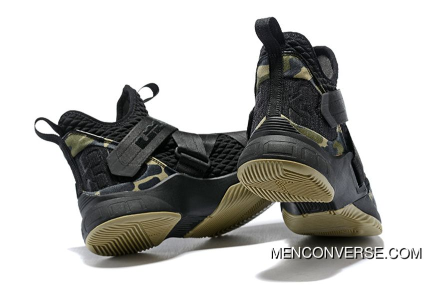 6605cbbbf4b1 1931 12 Nike Lebron Soldier 12 Green Camo 2018 Super Deals