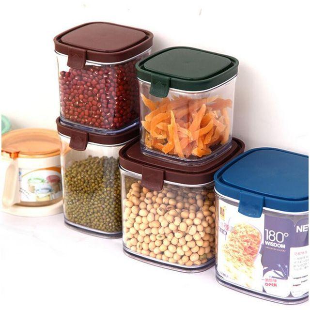 Plastic Food Storage Box Grain Container Kitchen Organize Tools