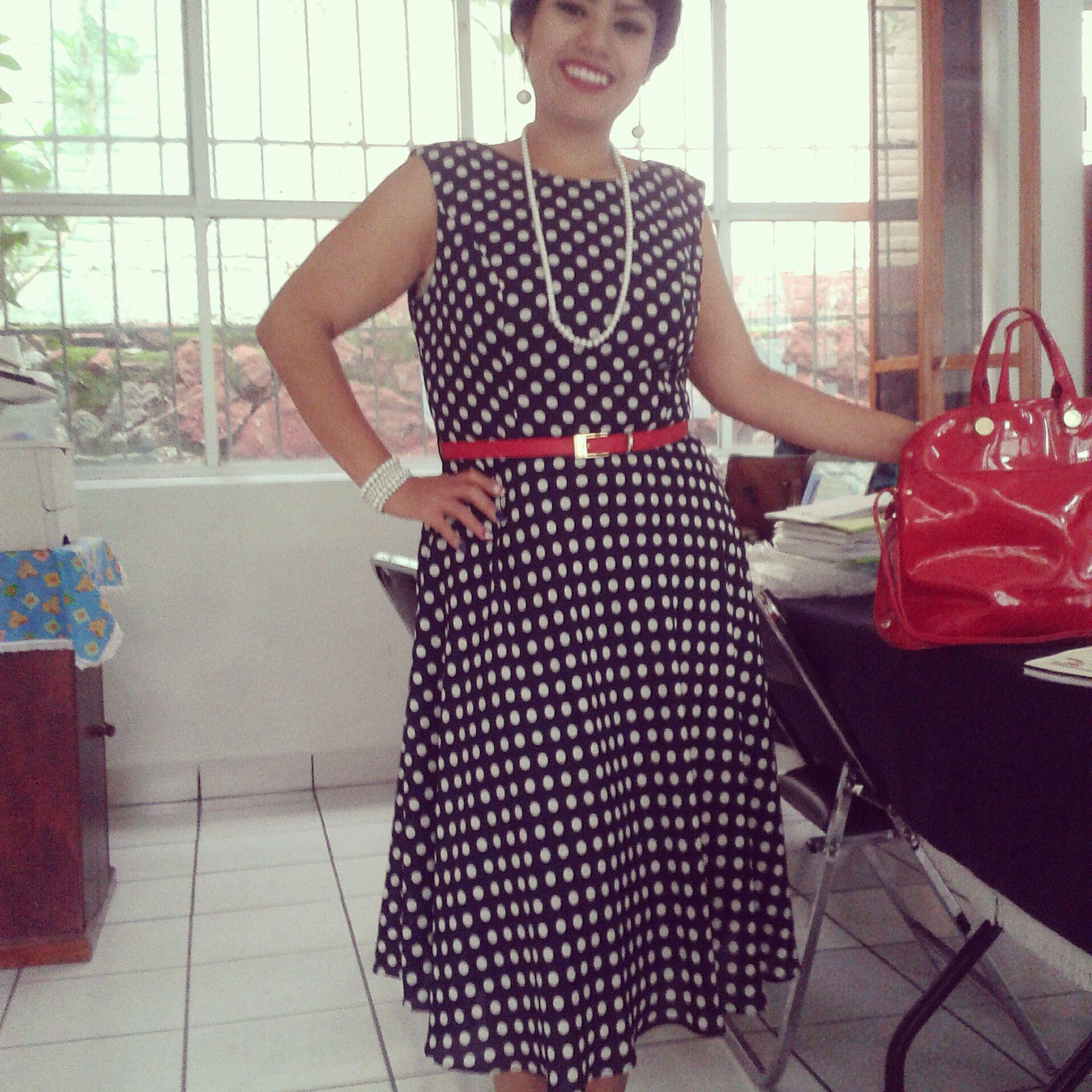 Vestido azul boleado | ropa para mujer | Pinterest
