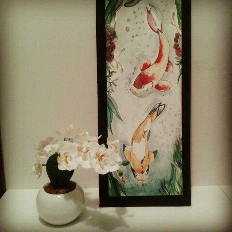 """Simbolo che rappresenta principalmente la perseveranza. La carpa è anche evocativa della fedeltà nel matrimonio e buona fortuna in genere.La carpa (""""Koi"""" in giapponese) è sempre in movimento ed è considerata uno dei pesci con più energia e forza.  Http://croceart.wordpress.com"""