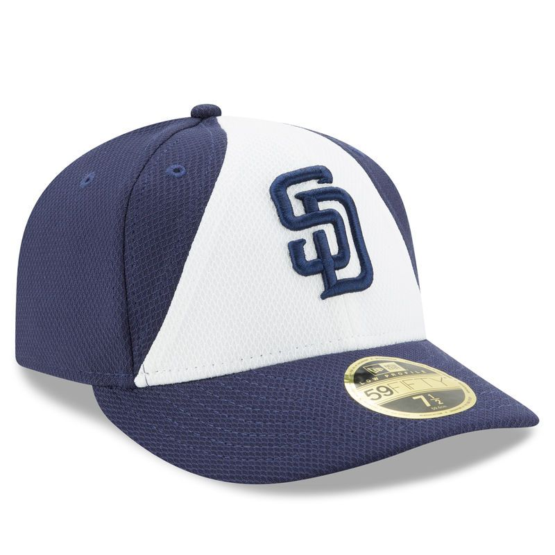 San Diego Padres New Era 2017 Spring Training Diamond Era Low Profile 59FIFTY Fitted Hat - White/Navy