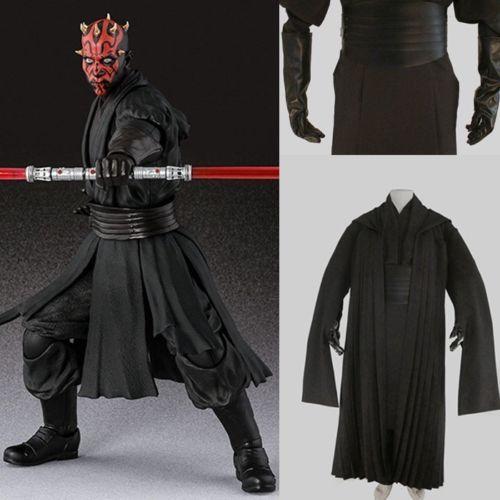 Star Wars Sith Dark Lord Darth Revan Costume Outfit Uniform Cosplay Cape Robe
