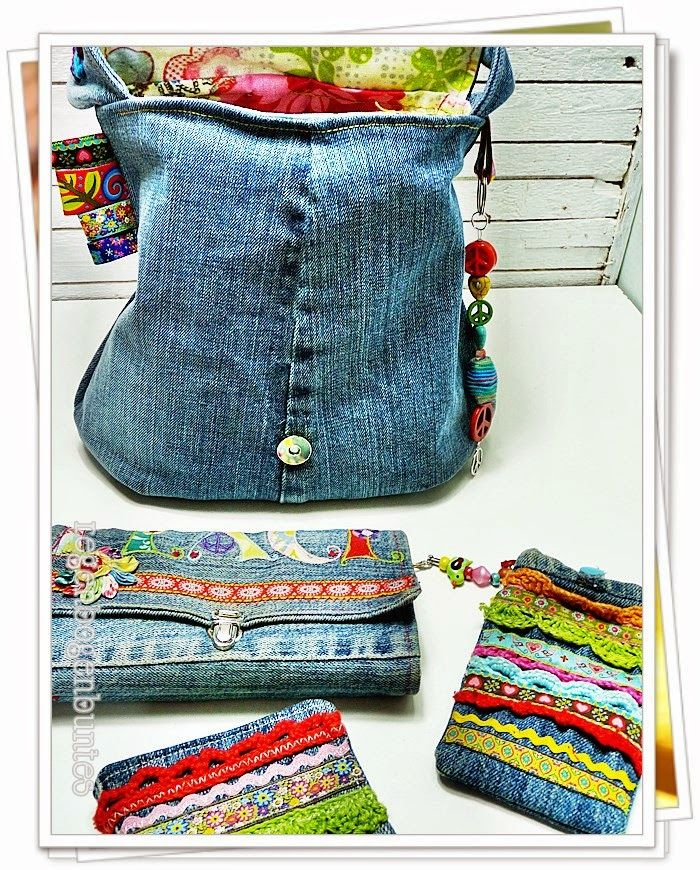bf6599149 Pin de Where Sisters Create em Upcycled inspirational jean treasures ...