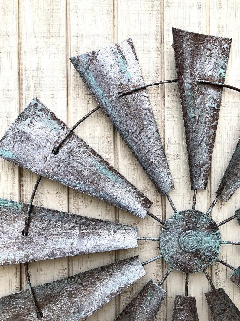 Metal Wall Decor Windmill Wall Art Metal Windmill Farmhouse Wall Decor Farm House Decor Rustic Home D In 2020 Metal Windmill Metal Wall Decor Farmhouse Wall Decor