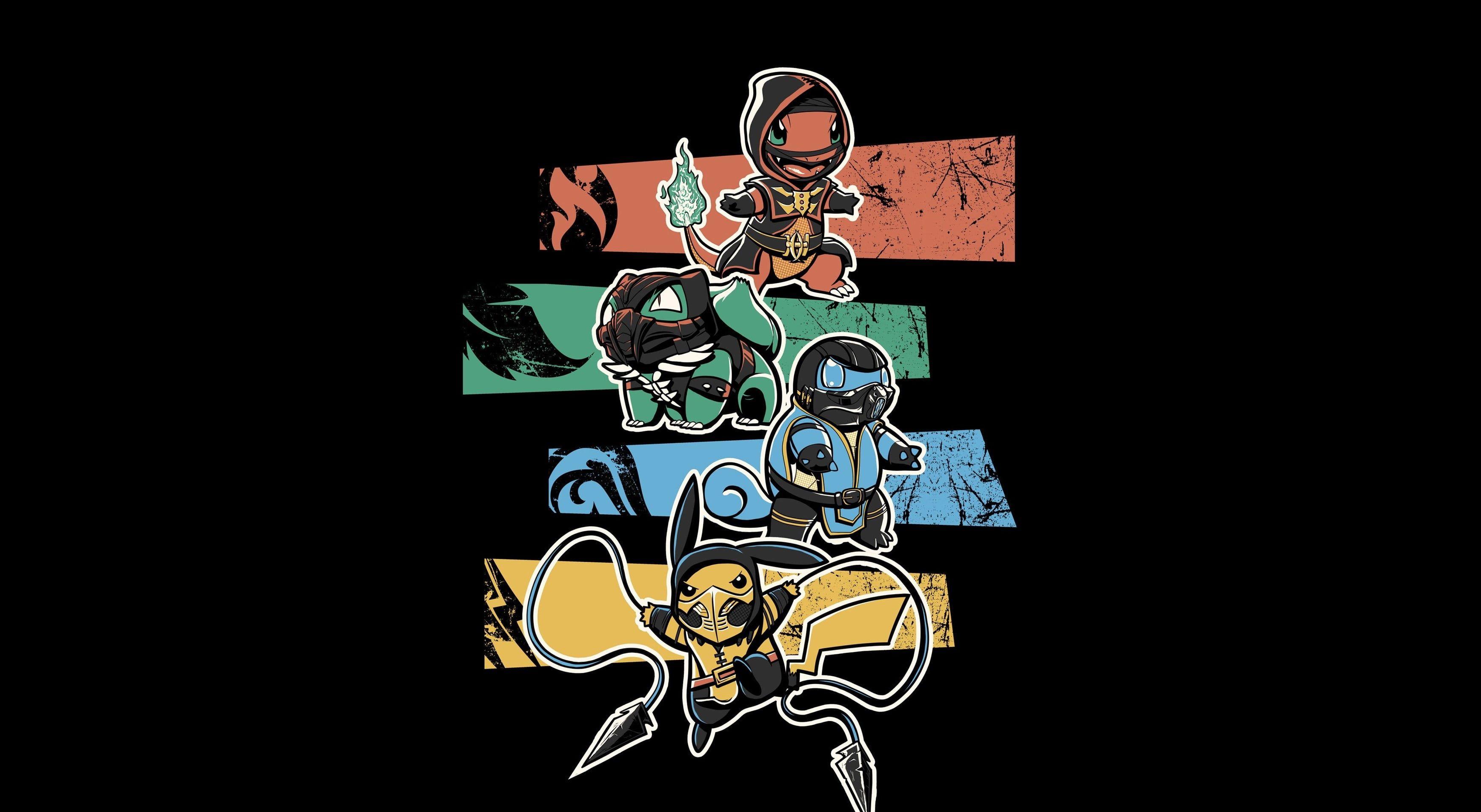 Pokemon Black Cartoon Pikachu 2k Wallpaper Hdwallpaper Desktop Black Pokemon Pikachu Wallpaper Character Wallpaper