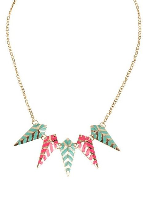 Trending geometric tribal princess-style-necklaces with spikes  via @Roposo