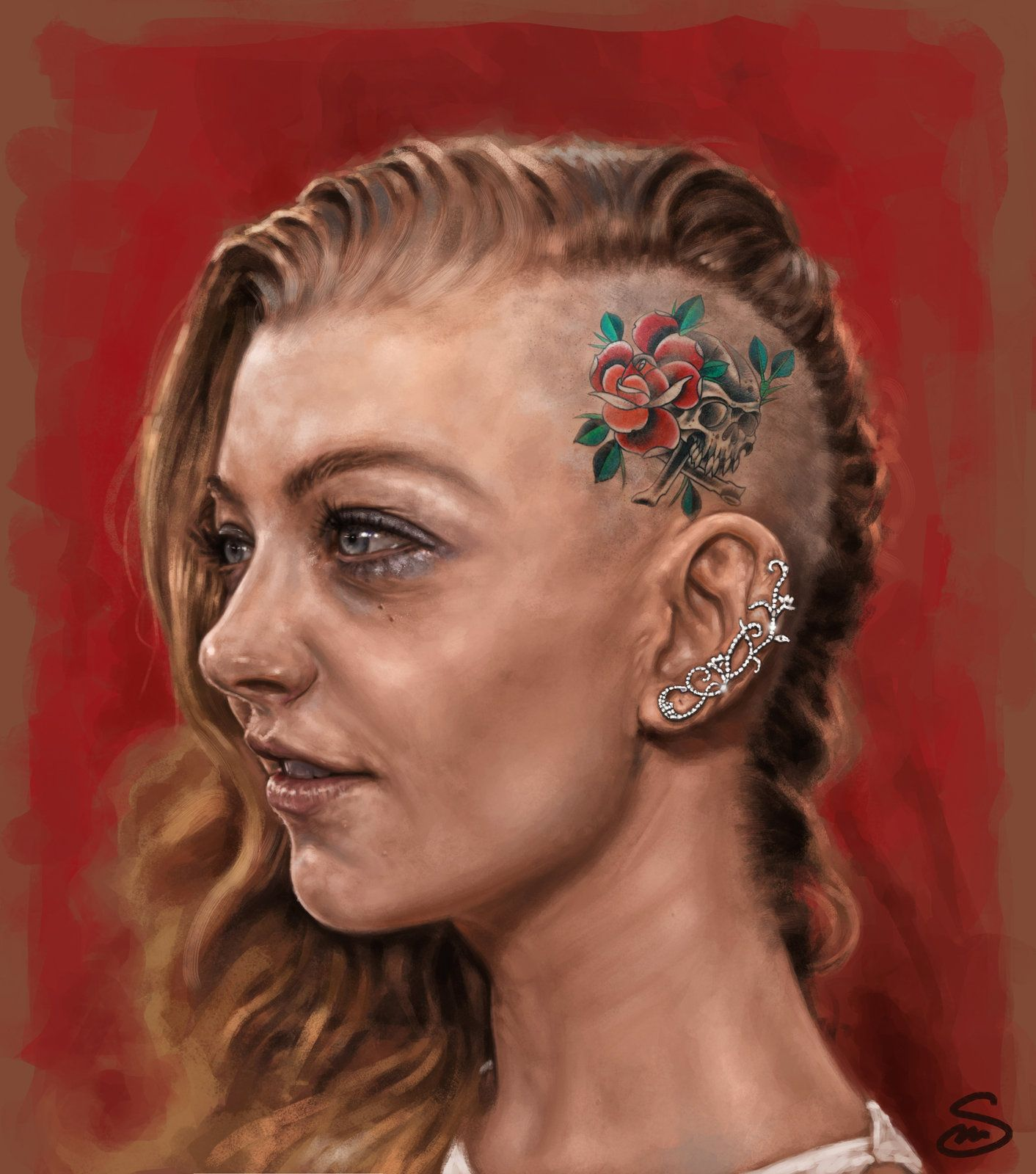 Personal portrait of Natalie Dormer, Mirko Serino on ArtStation at http://www.artstation.com/artwork/personal-portrait-of-natalie-dormer