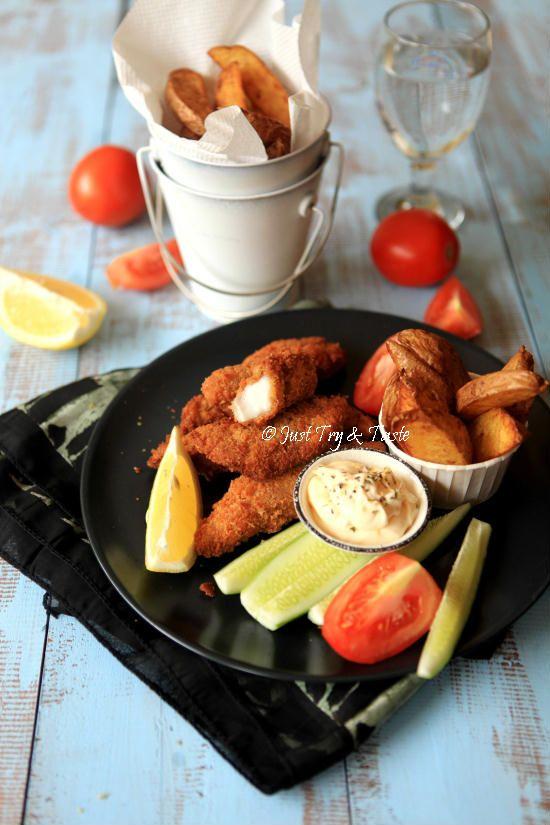 Resep Super Crispy Fish Chips Dengan Homemade Bread Crumbs A La Jtt Resep Makanan Resep Sederhana Makanan