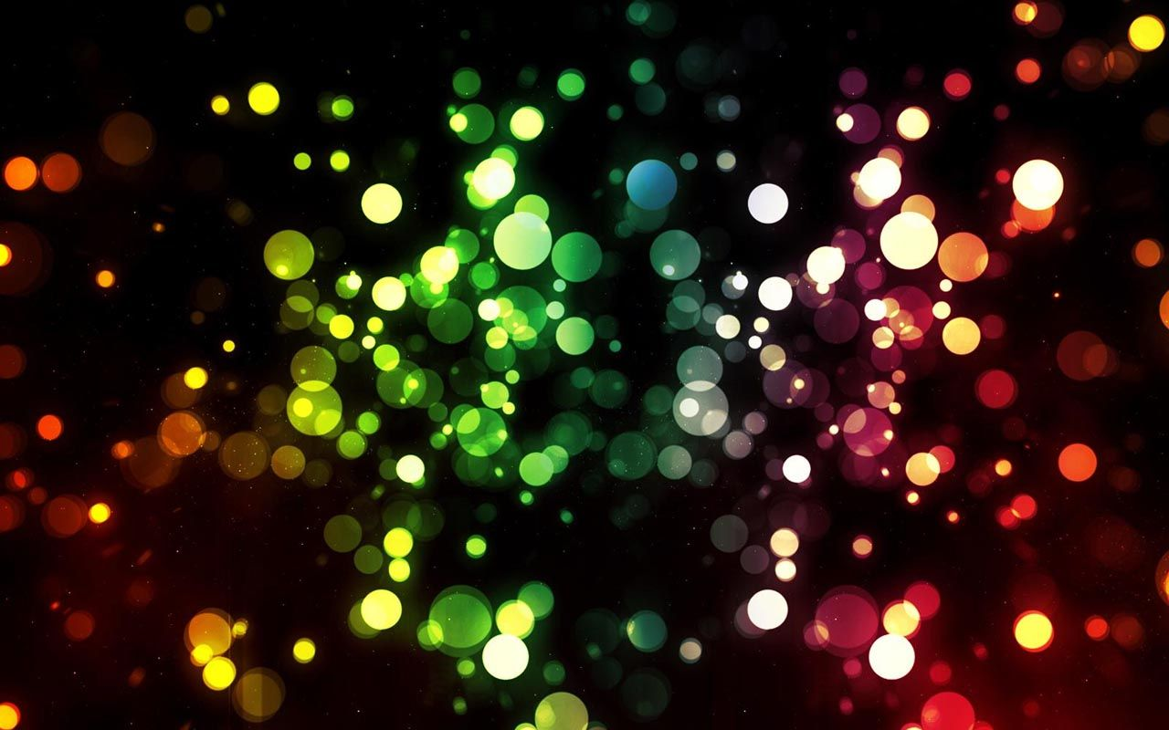 Lights Rainbows Blurred HD Background Wallpaper Bokeh