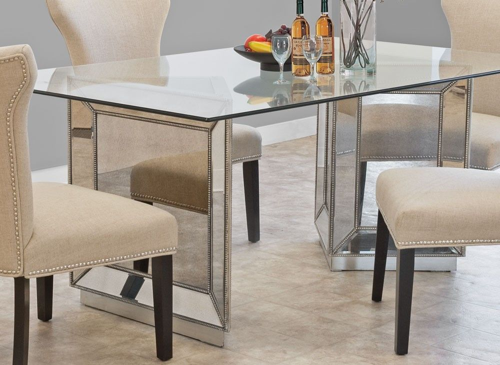 Sophia Mirrored Dining Table Collection Contemporary Dining Room Design Dining Table Living Dining Room