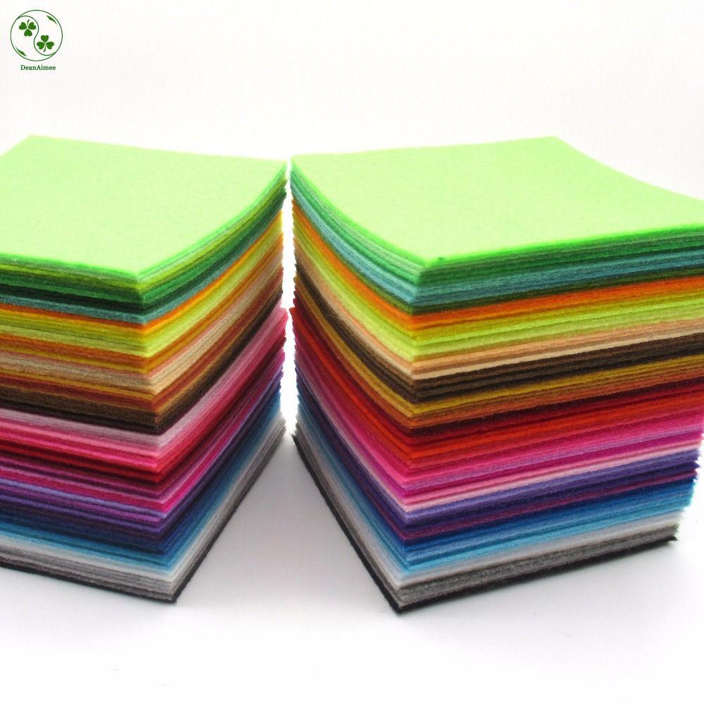 88 Farben/Lot 10X10 CM Filz Stoff Polyester 1 MM Dicken vlies Fühlte Handgemachte Stoff DIY Vlies Tuch