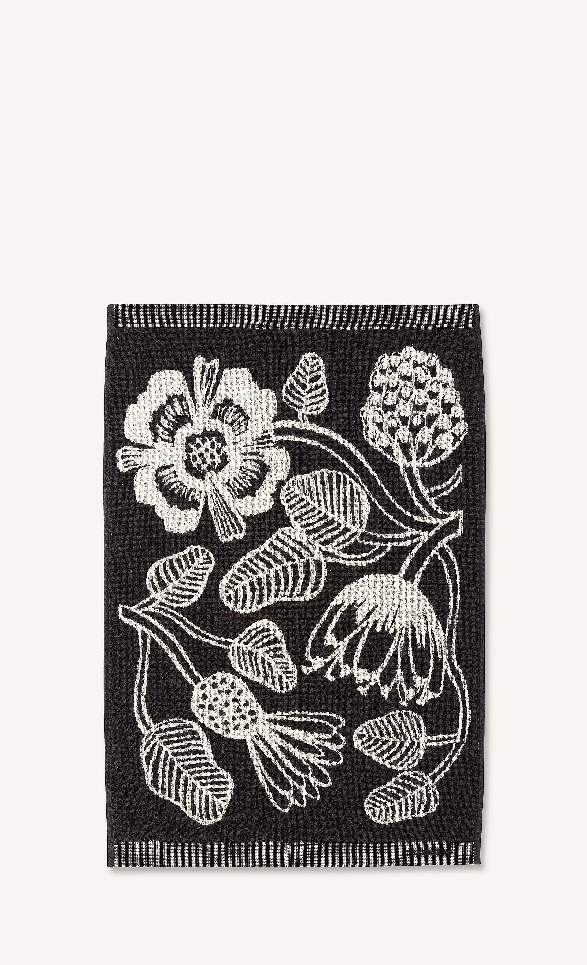 Tiara käsipyyhe valkoinen musta hand towels and towels