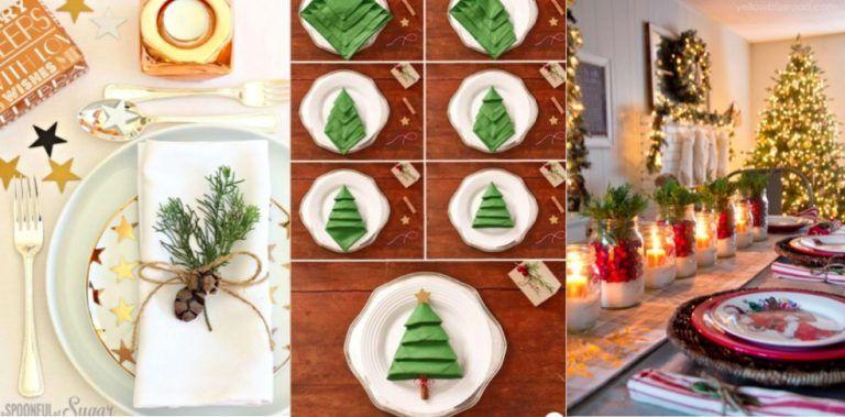 Passez de bons repas de Noël avec 20 idées déco | Idee deco, Decoration noel