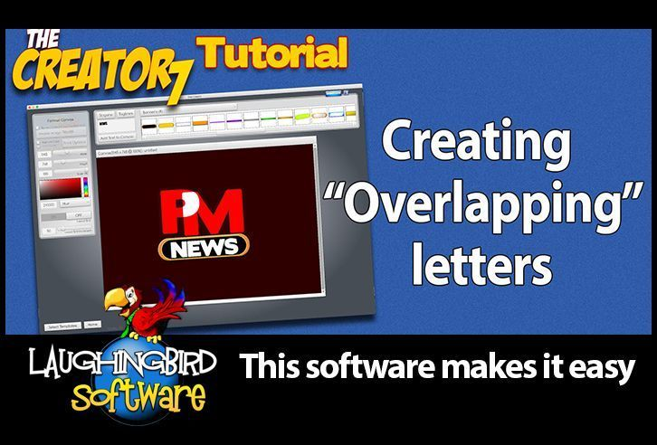 Graphic Design tutorial:  Here's how to create letters that overlap for a unique logo design or image of any kind. No Photoshop or expensive software.  See our blog and 5 minute video tutorial!  #entrepreneur #onlinebusiness #graphicdesign