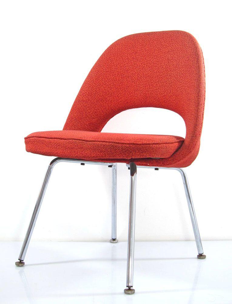 Gentil Eero Saarinen Chair Red Vintage Knoll