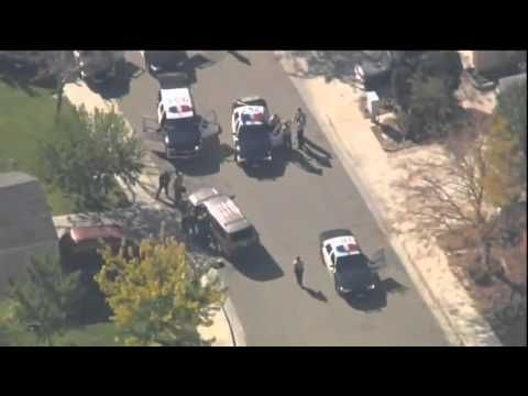 Southern California Police Pursuit Bank Robber Massive Shootout (Raw New...