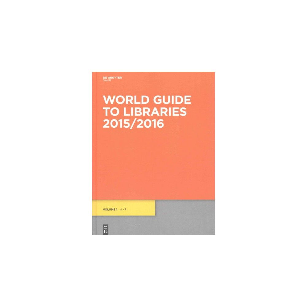 Amazon. Com: world guide to libraries 2015/2016 (9783110404838.