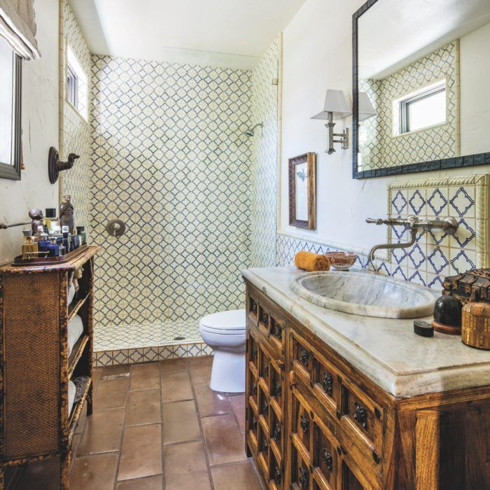 A Spanish Colonial Home Gets A Funky Makeover