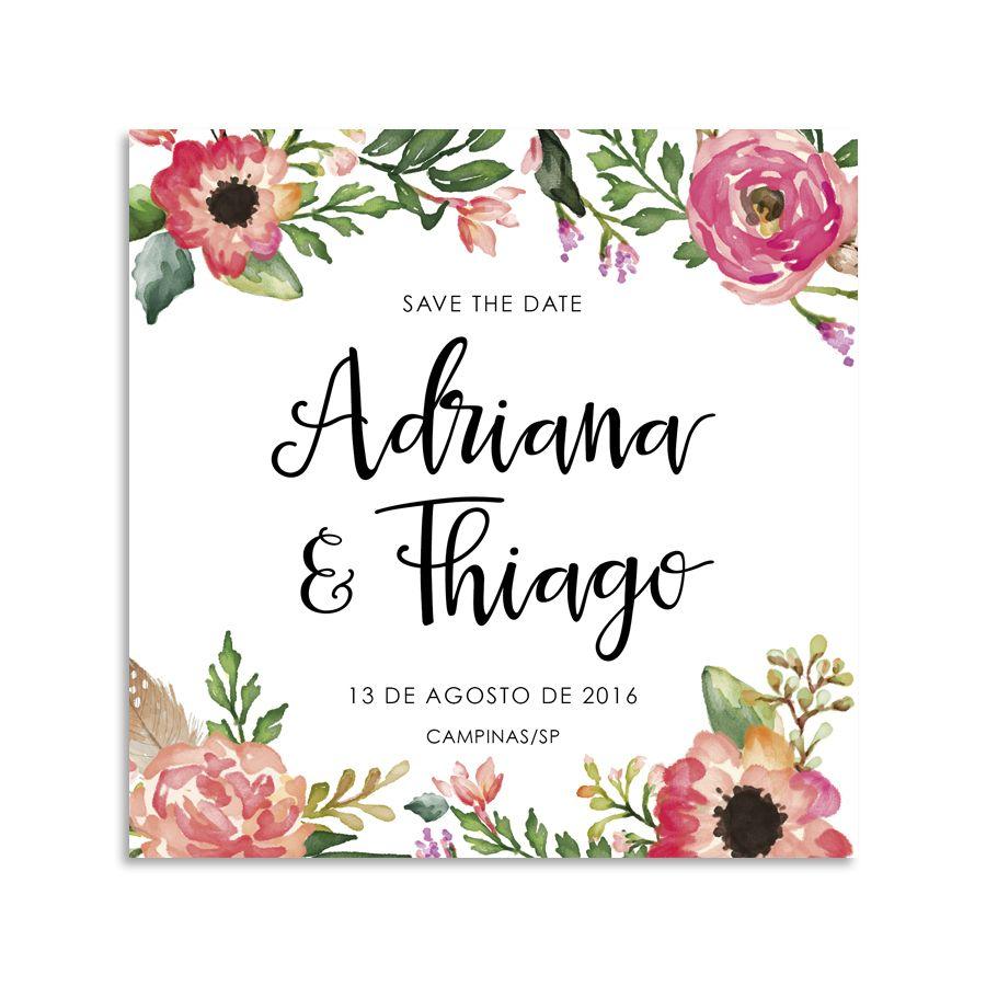 SAVE THE DATE AQUARELA – Chuva de papel | Casamento | Pinterest | Wedding, Party wedding and ...