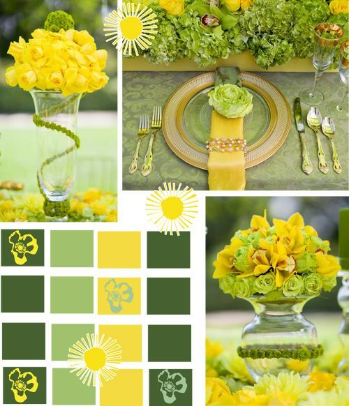 Yellow And Green Color Ideas Place Setting Lk