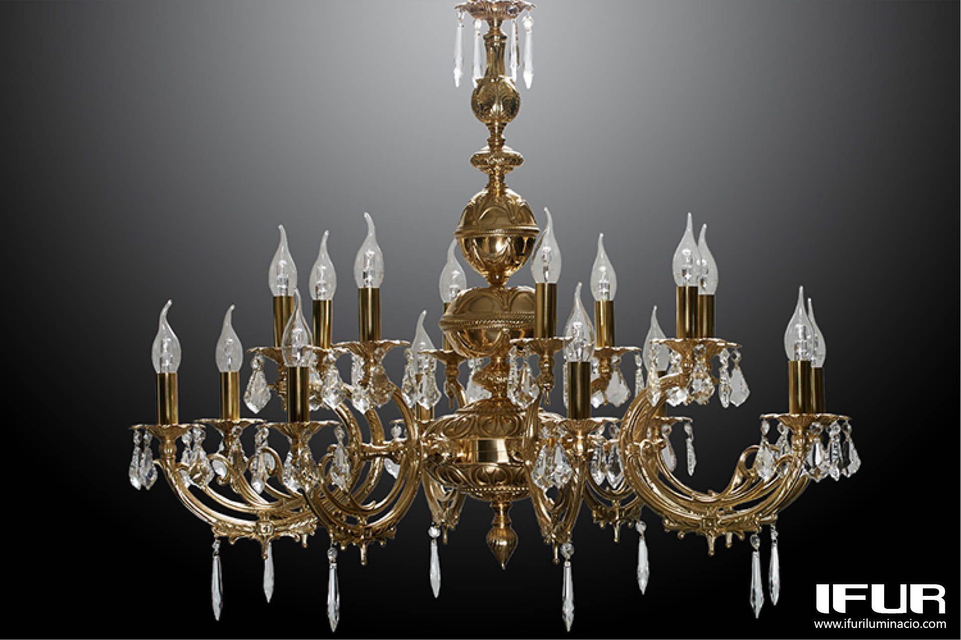Custom made classic brass chandelier lmpara araa clsica de custom made classic brass chandelier lmpara araa clsica de bronce hecha a medida aloadofball Images