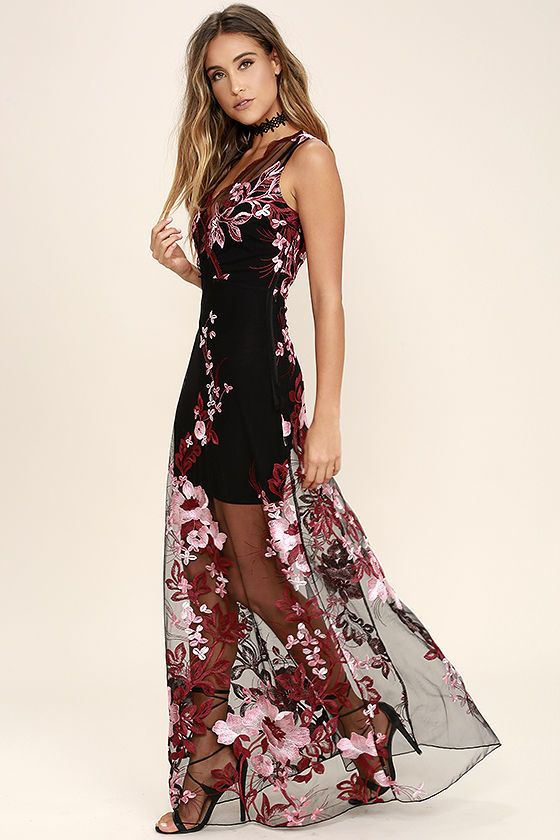 Maxi dress embroidered xmas
