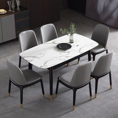 Rectangular Extendable Faux Marble Dining Table With Marble Veneer Top Modern Dining Table 55 To 71 Wood Legs Dining Table Marble Faux Marble Dining Table Marble Dining Table Set
