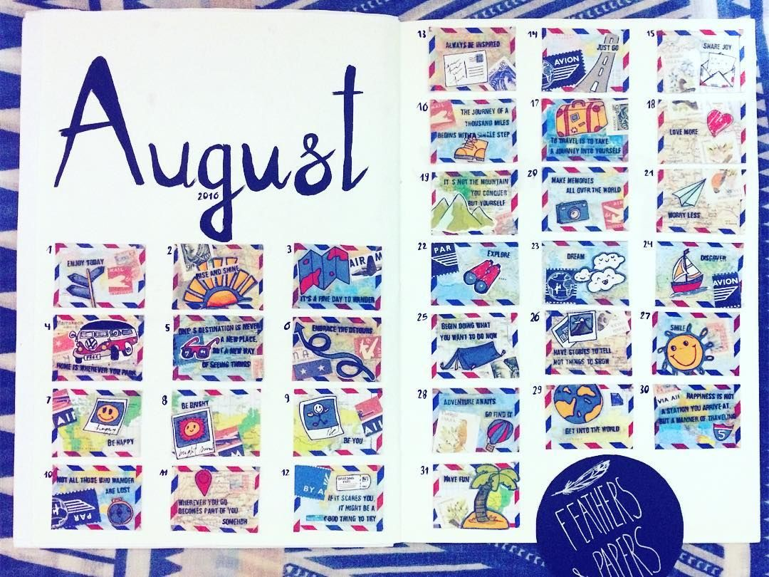 Last day of August! Vacations are over and summer is almost finished!  But keep … – 365 Art Calendar