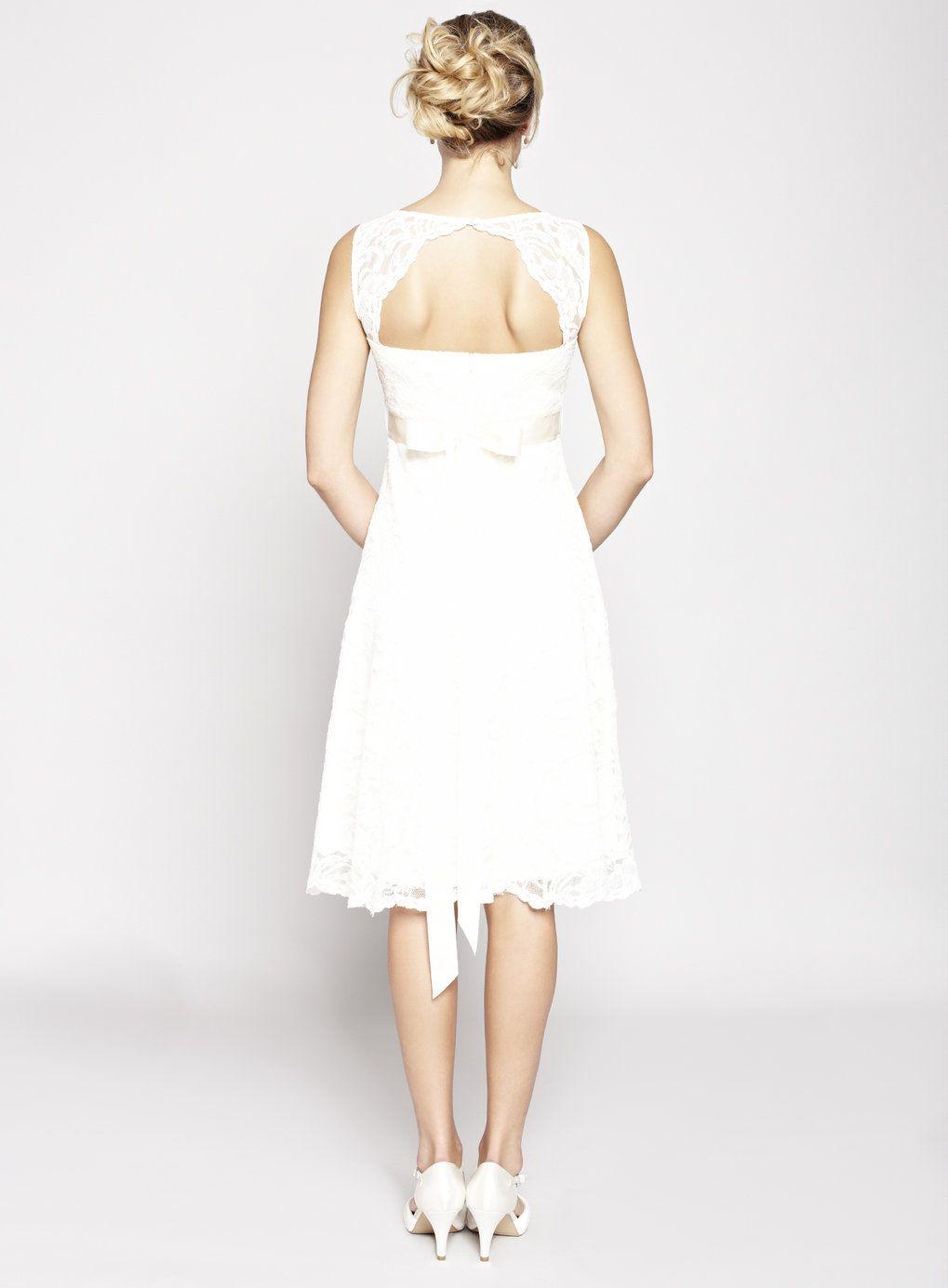 Ivory bella lace short bridal dress wedding bhs for Short ivory lace wedding dress