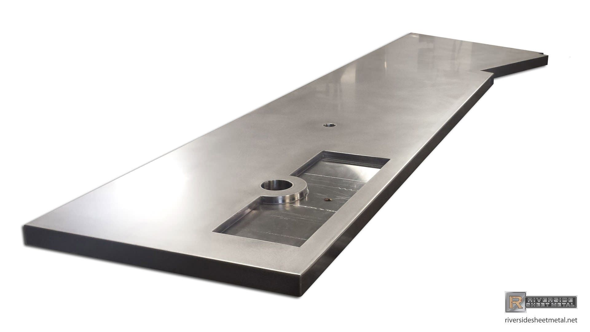 Stainless Steel Bar Top With Beer Tap Tray Stainless Steel Bar