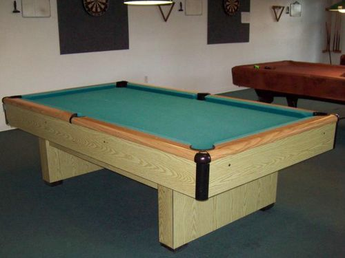 Bright Wood Pool Table Gandy