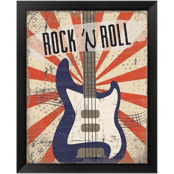 Metaverse Art Rock \'n Roll Framed Wall Art ($165) ❤ liked on ...