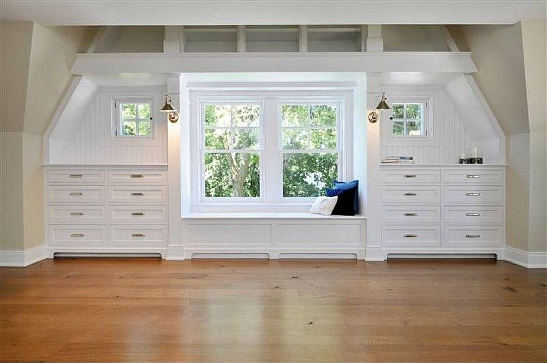Awesome Attic Master Bedroom With Wood Furniture Attic Master