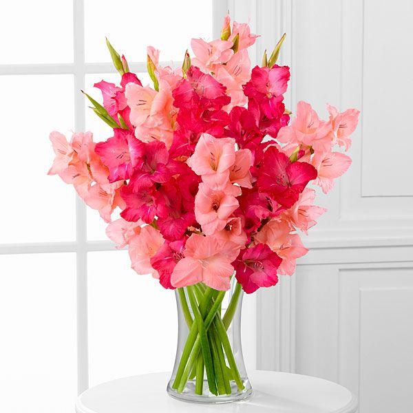 Pinking Of You Gladiolus Bouquet Gladiolus Bouquet Wedding Flowers Tulips Inexpensive Wedding Flowers