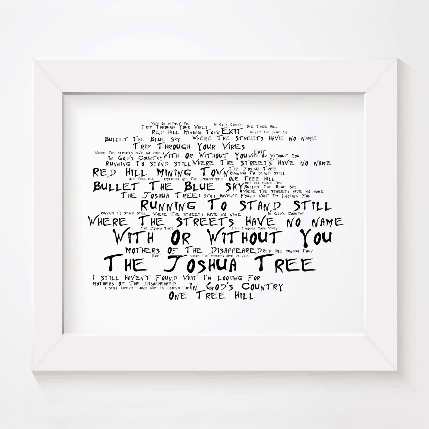 The Stone Roses Poster Print Debut Album Lyrics Gift Signed Art