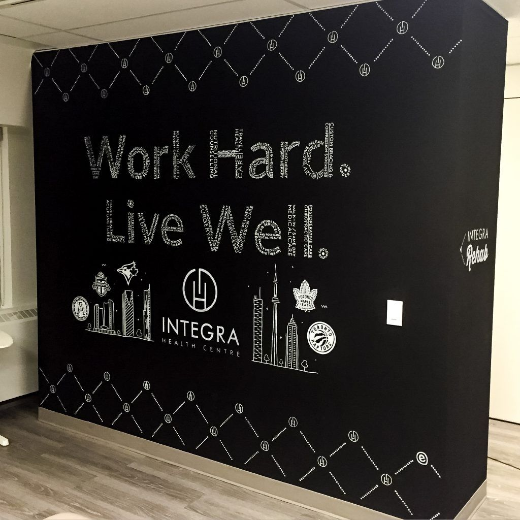 Intergra Corporate Office Chalkboard Wall