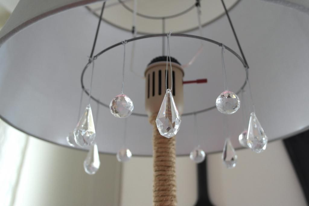 Diy Chandelier Floor Lamp Makeover Sypsie Designs Featured On Remodelaholic
