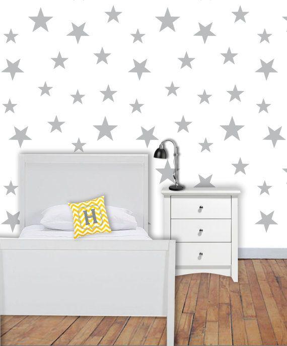 Removable Wallpaper Star Wallpaper Peel And Stick Wallpaper Kids Wallpaper Nursery Wallpaper Self Adh Removable Wallpaper Kids Wallpaper Nursery Wallpaper