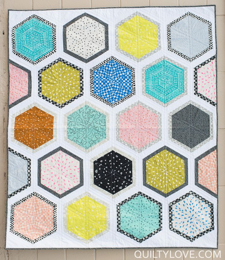 Triangle Hexies The Cotton And Steel One Fat Quarter Quilt Fat