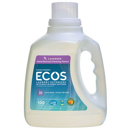 Earth Friendly Products Ecos Ultra Lavender All Natural Liquid Dete Ecos Laundry Detergent Hypoallergenic Laundry Detergent Natural Laundry Detergent