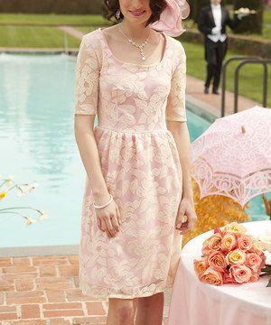 Look at this #zulilyfind! Pink Floral Cherish You Dress by Shabby Apple #zulilyfinds
