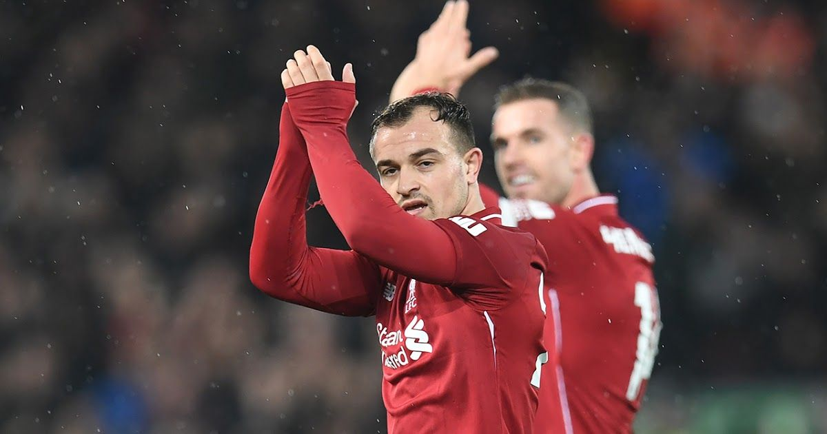 Substitute Xherdan Shaqiri Scored Twice To Give Liverpool A Fully Deserved 3 1 Victory Over Manchester United At A English Premier League Premier League League