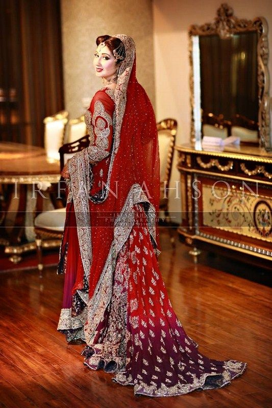 51 Inspirational Red Pakistani Bridal Outfits By