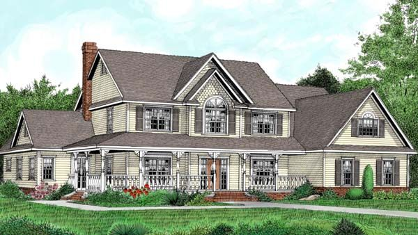 House Plan 96881 | Country Farmhouse Plan With 3464 Sq. Ft., 5 Bedrooms