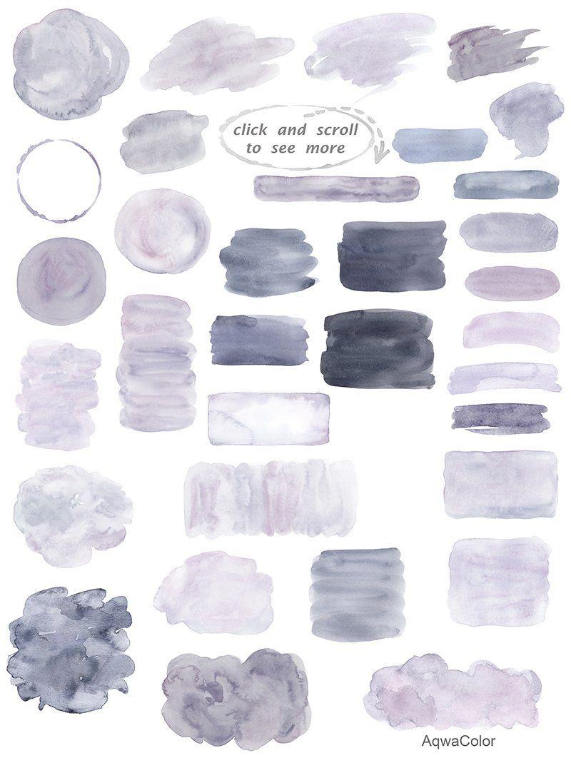 Watercolor clipart background Grey Watercolor clip
