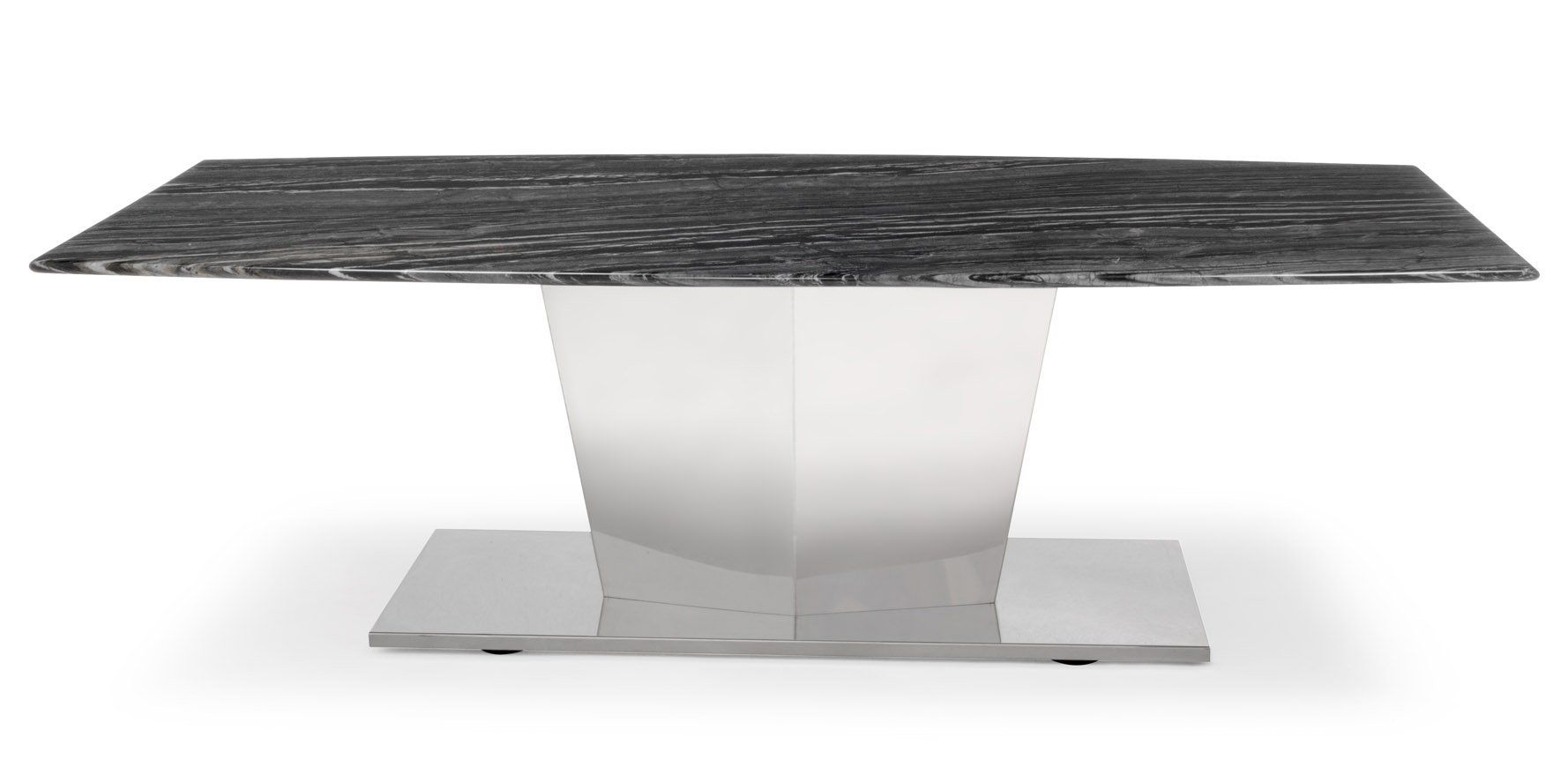 Zuri Furniture Black And White Marble Brushed Stainless Steel Sirah Coffee Table Mak Black And White Marble Brushed Stainless Steel Modern Contemporary Home [ 870 x 1778 Pixel ]